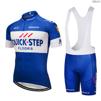 2018 Uci Cycling Clothing Bike Jersey Quick Dry Mens Bicycle Clothes Summer Quick Step Team Cycling