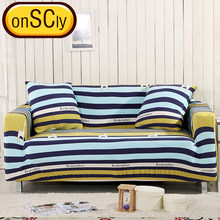 Bue Stripes Protector Sofa Cover Sofa Slipcover Furniture Couch Cover For Sofa Covers For Living Room Corner Sofa Cover Elastic(China)