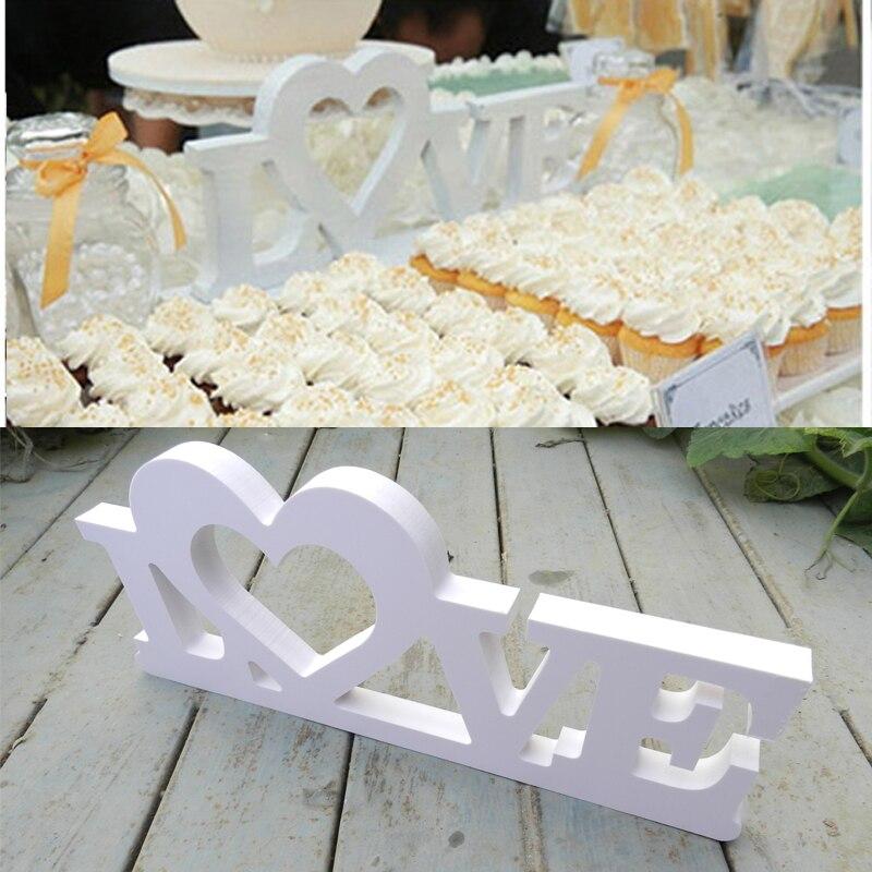 Свадебные знак любви, белая акриловая письма, Свадебный декор, полка Декор Бесплатная доставка Свадебный Стол Аксессуары