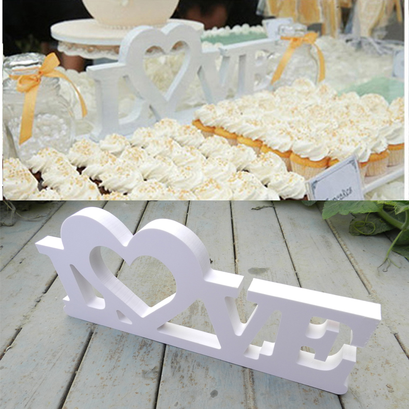 Wedding Love Sign , White Acrylic Letters,Wedding Decor,Shelf Decor Free Shipping Wedding Table Decorations