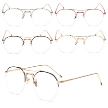 2529afd13ec Vintage Men Women Round Eyeglass Frame Half Rim Glasses Lens Spectacles  Eyewear -Y107(China