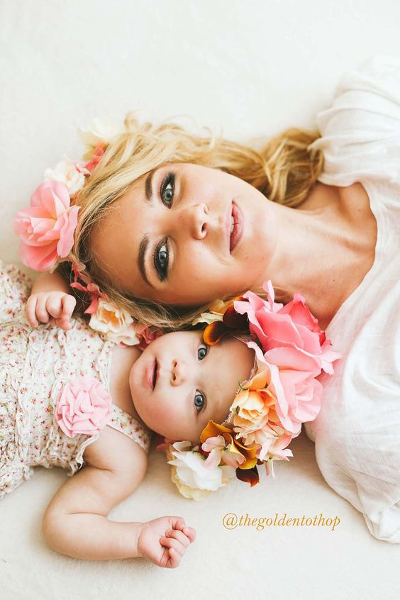 Infant Baby Photography Flower Headband Holiday Family Fashion Hairbands Parent-child Headdress Photography Props Accessories Durable In Use Hair Accessories
