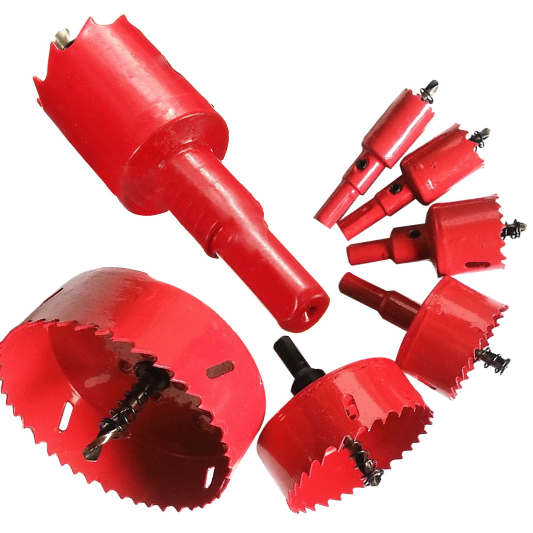 Twist Drill Bits Cutter 16mm-50mm Drill Bit Hole Saw Power Tool Metal Holes Drilling Kit Carpentry Tools for Wood Steel Iron