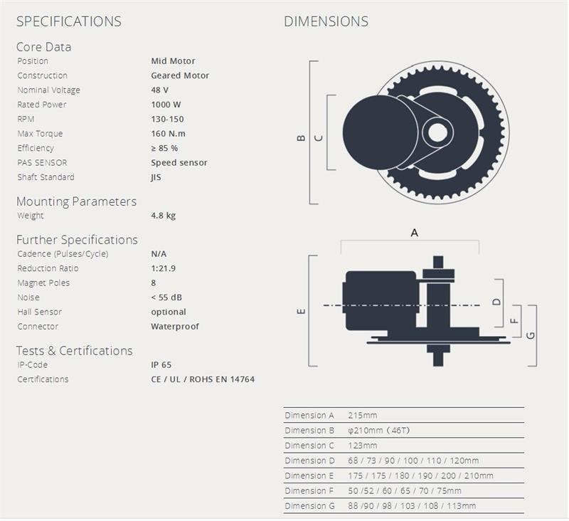 HTB1HrOdXzzuK1RjSsppq6xz0XXaS - Bafang 8fun 48V 1000W BBSHD BBS03 Mid Drive Motor Kits With 48V 17AH Lithium Battery C961 C965 Electric Bicycle Conversion Parts