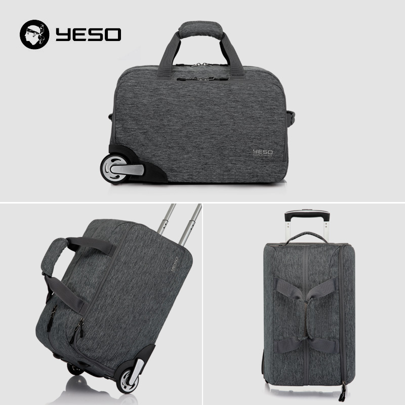 YESO Trolley Travel Bag Unisex Hand Luggage 20 inch 32L Rolling Duffle Bags  Waterproof Oxford Suitcase Wheels Carry On Luggage-in Travel Bags from  Luggage ... a5e53c3381522