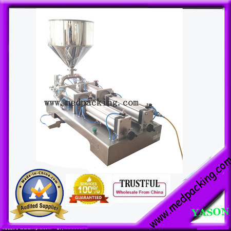 50-500ml Double Heads Semi-Automatic Toothpaste Tube Filling Machine For Jam YS-MG733 GRIND