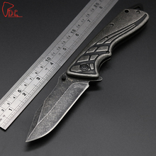 Dcbear High Quality All Steel Knife Tactical Folding Knife 440C Steel Stone Wash Blade Outdoor Tops Knife EDC Pocket Tool