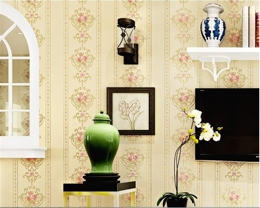 beibehang three-dimensional carving of European stripe 3d wallpaper warm bedroom living room covered with background wallpaper embroidery basis book 500 kinds of three dimensional embroidery patterns