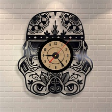 Creative Car Shape Vinyl Retro Wall Clock CD Record Time Clock Film Theme Creative European Style Horloge Watch