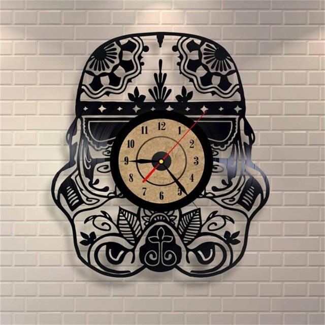 Creative Car Shape Vinyl Retro Wall Clock CD Record Time Clock Film Theme Creative European Style Horloge Watch
