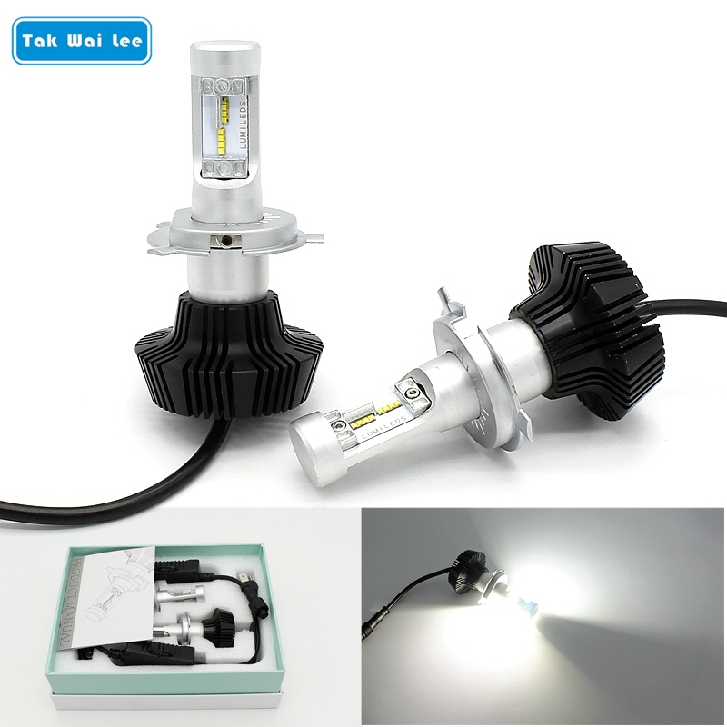 Tak Wai Lee 2X 25W Hi/Lo Beam Integration LED Car Headlight Styling Source 4000LM 6500K H4 H13 9004 9007 DRL Front Fog Light