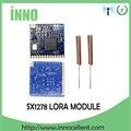 2 piezas 433 mhz RF LoRa SX1278 PM1280 la comunicación a larga distancia receptor y transmisor SPI LORA IOT + 2 piezas de antena de 433 MHz