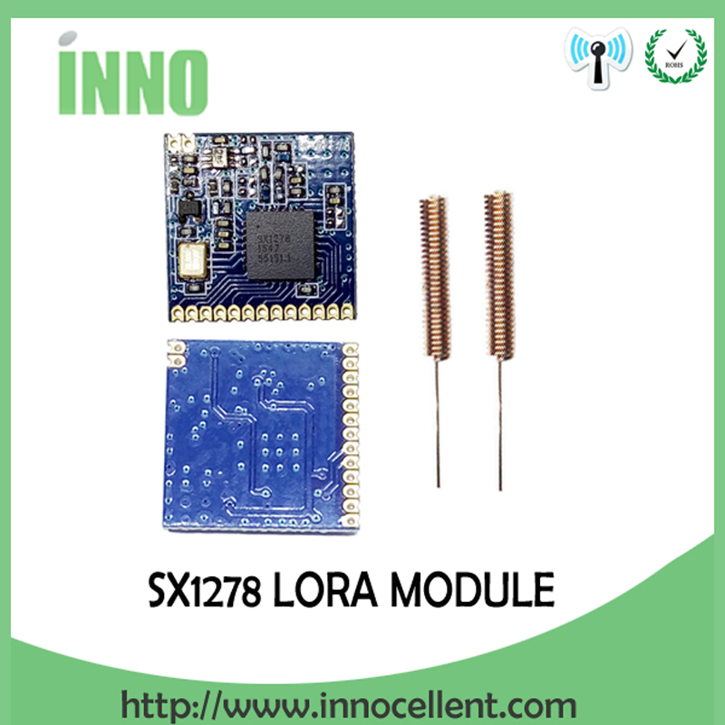 2pcs RF LoRa module SX1278 chip PM1280 Long-Distance communication Receiver and Transmitter SPI LORA  IOT+2pcs 433MHz antenna