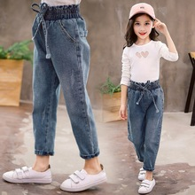 New Arrival Jeans Pants for Girls Casual Children Solid Denim Trousers Spring Autumn 2020 Kids Flare Jeans 3t 4t 8 12 13 Years girls jeans pants straight solid pencil kids jeans trousers denim casual children clothing spring 2018 size 9 10 11 12 13 14 y