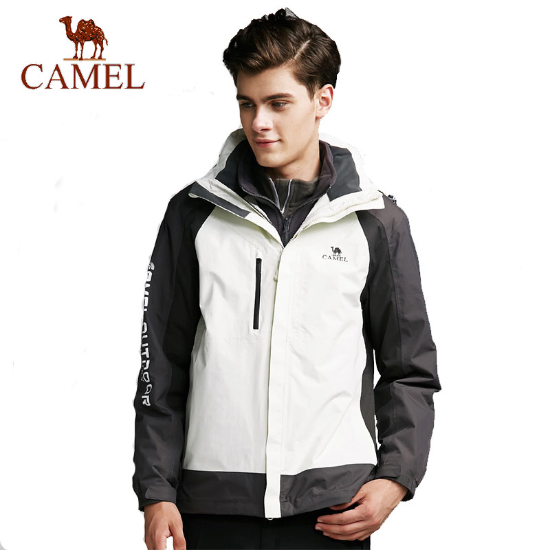 CAMEL Men's Winter Outdoor Jacket Warm Windbreaker Waterproof Camping Hiking Skiing Snowboarding Male Jacket super thick thermal fleece warm man winter jacket waterproof windproof jacket skiing snowboarding climbing hiking camping jacket