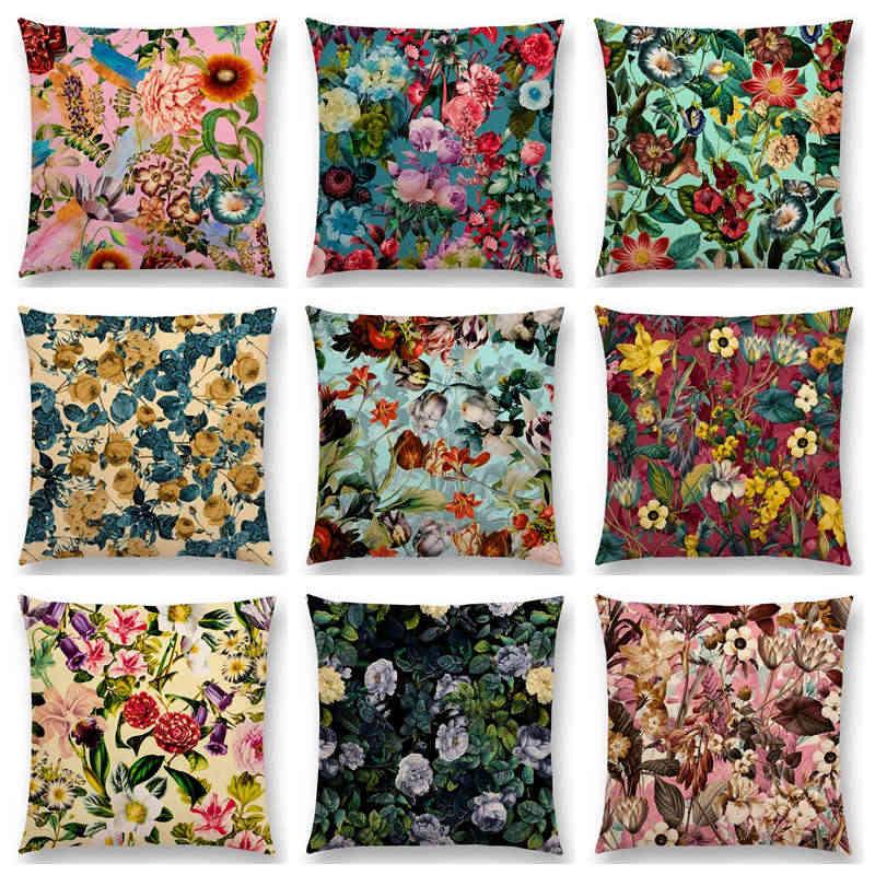 Экзотический Сад Лето натуральные цветы лист ботанический тропические джунгли цветочный узор Чехлы для подушек Декор диван пледы наволочки
