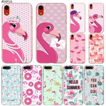 Cute Cartoon Animal Flamingo Hot Fashion Transparent Hard Phone Cover Case for iPhone X XS Max XR 8 7 6 6s Plus 5 SE 5C 4 4S animal series cute dog style phone case cover for iphone 4 4s brown black