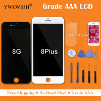 YWEWBJH 5PCS Grade AAA LCD For iPhone 8 LCD Display Touch Screen Digitizer Assembly Replacement Good 3D For iPhone 8Plus screen