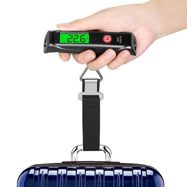باليد ميزان حقائب السفر/ الأمتعة الإلكترونية ميزان معلق رقمي لصيد الأسماك الأمتعة حقيبة سفر الترجيح steelياردة