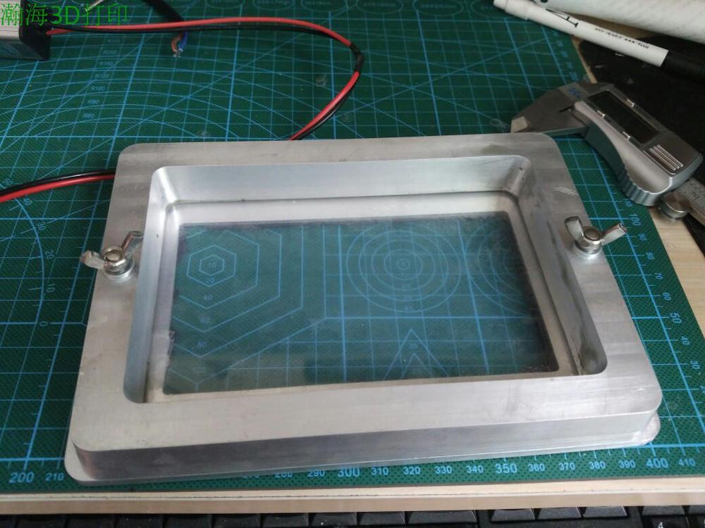 SLA 3D printer SLA light curing photosensitive resin tank resin tray for DIY SLA 3D printer With 1pcs Films