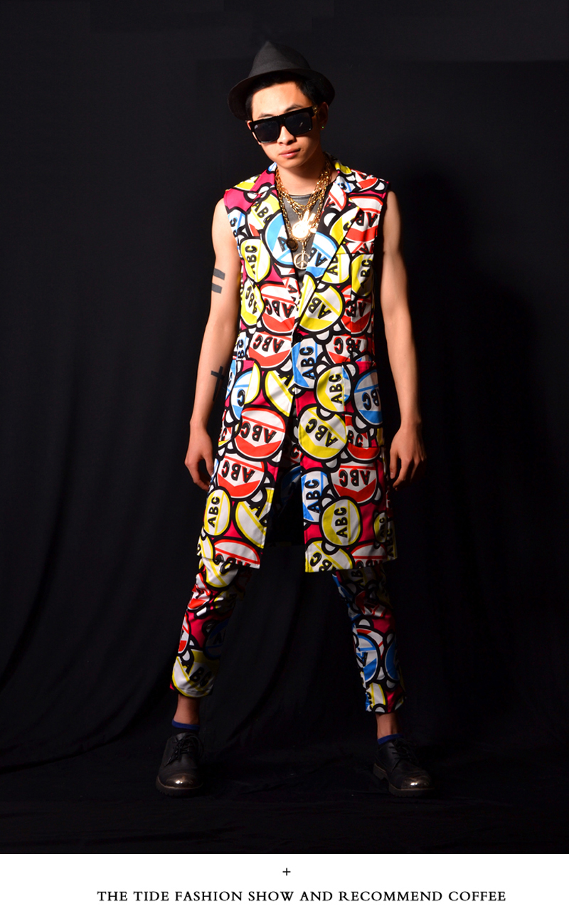 Boys Prom Suit Latest Design Candy Letters Mens Stage