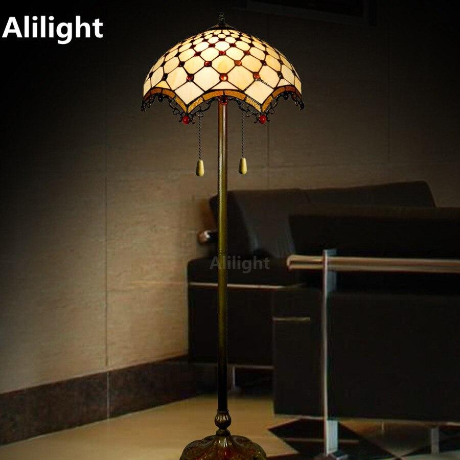 tiffany luxury floor lamp retro floor light for living room bedroom hotel decoration standing lamp home