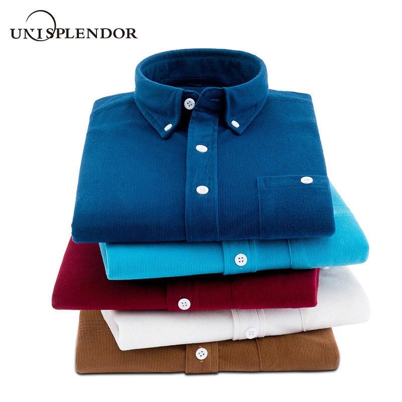 2019 Spring Autumn Men Shirts Oxford Textile Man Dress Shirt New Fashion Men's Clothing Solid Soft Male Casual Shirt Top YN10451
