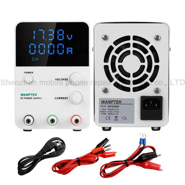 Wanptek GPS DC Regulated Power Supply Four Digital Display Adjustable Phones Electrical Appliances Maintenance Power Supply
