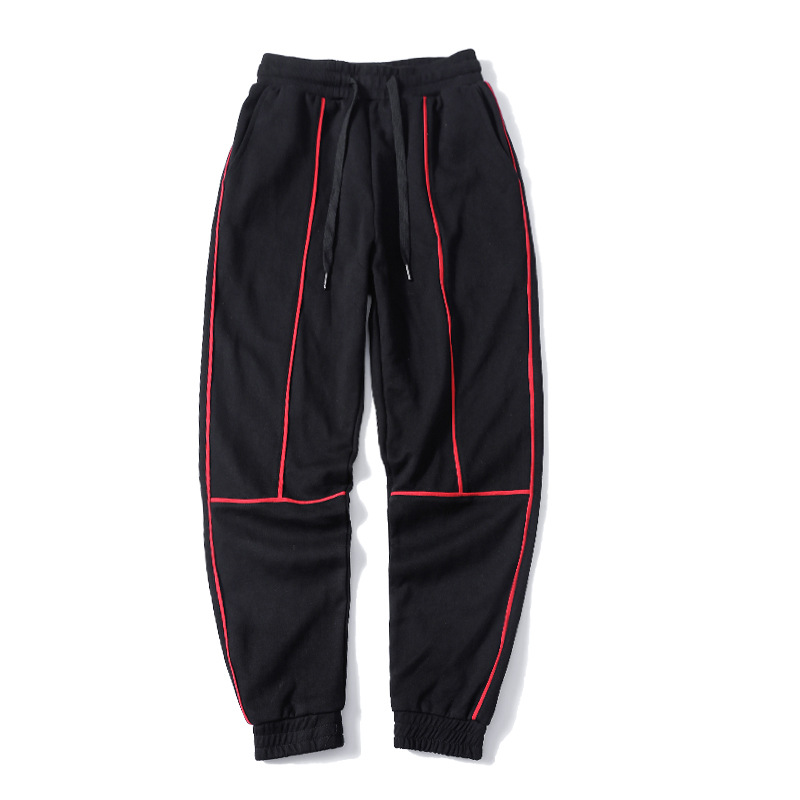 Brand Spring Summer Fitness Pants Men Elastic Hit Color Sweat Pants Black Drawstring Outwear Clothing Male Jogger Trousers New