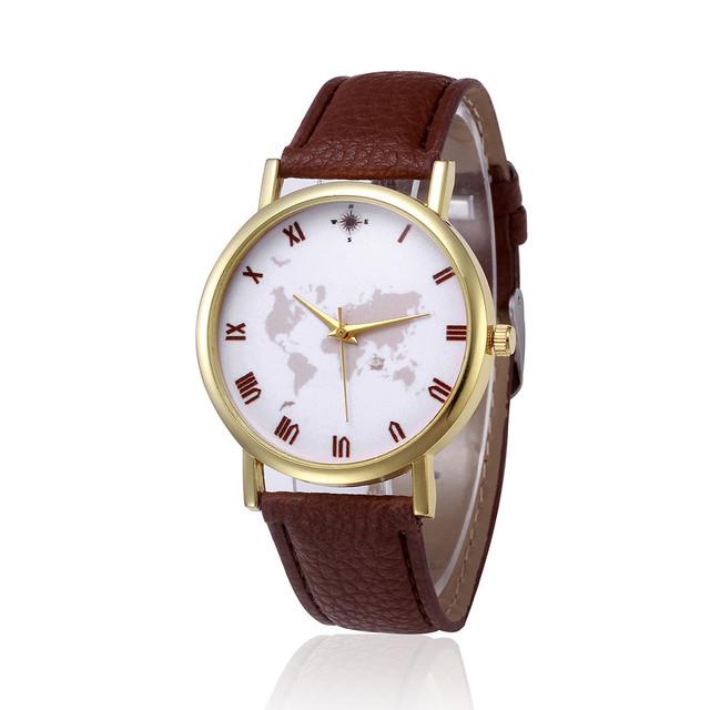 New Fashion Global Map Men Women Watches Casual Quartz Watch Casual Sports Wristwatch for women kol saati relogio feminino 30Q