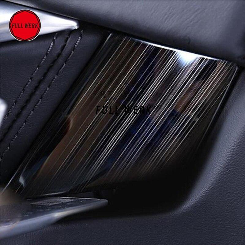 Car Interior Mouldings Door Inside Sticker Protector Guard Anti-scratch Decel for Tesla Model S 2014-2017 Stainless Steel Guard yi 221 door guard protector decorative sticker for auto car white 4 pcs