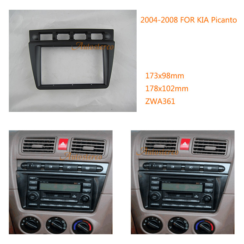 Car Radio fascia autostereo MP3 PLAYER DASHBOARD FRAME for KIA Picanto 2004 2008
