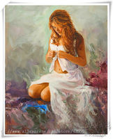 Lovers nude oil painting Sexy wall art women Oil painting on canvas hight Quality Hand painted Painting White Skirt Girl