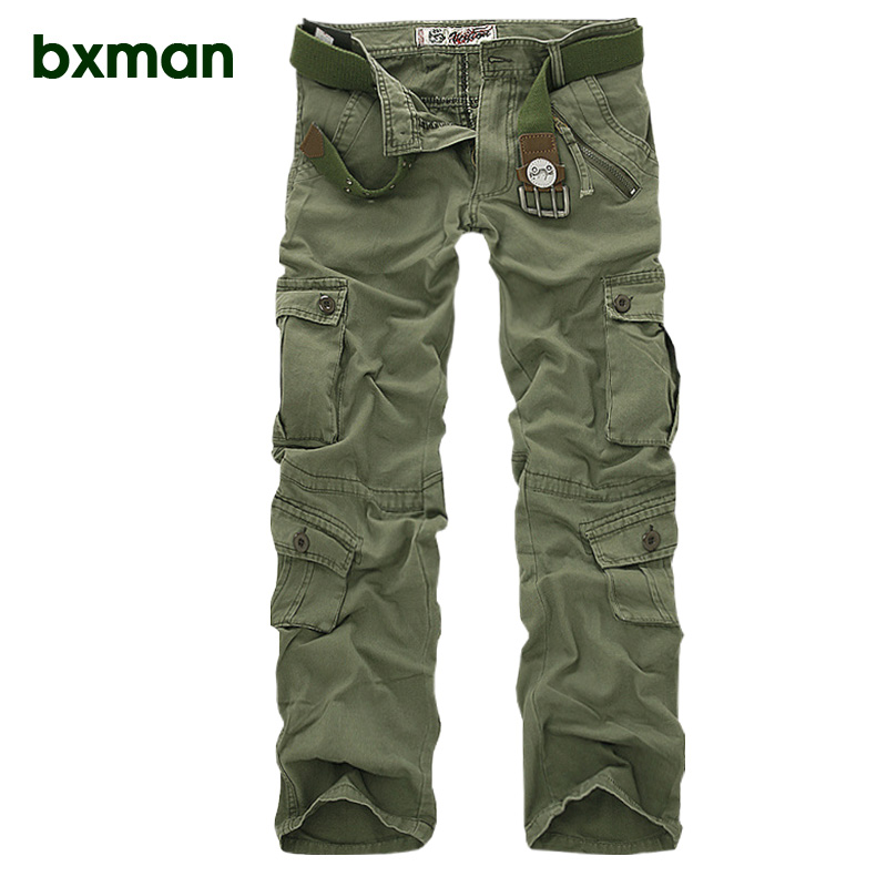 2018 spring and summer hot selling loose camouflage pants cotton overalls Europe and the United States large size mens pants