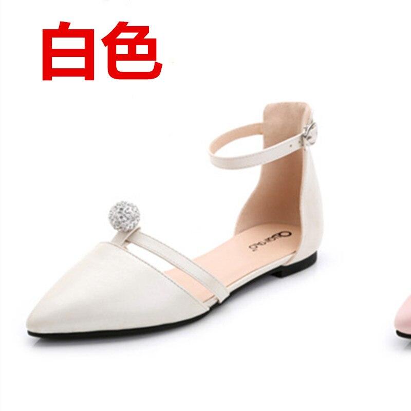 2016 sandali piatti casuale colore nudo piccola femmina 31 32 33 plus size 40 41 42 - Sandale Colore