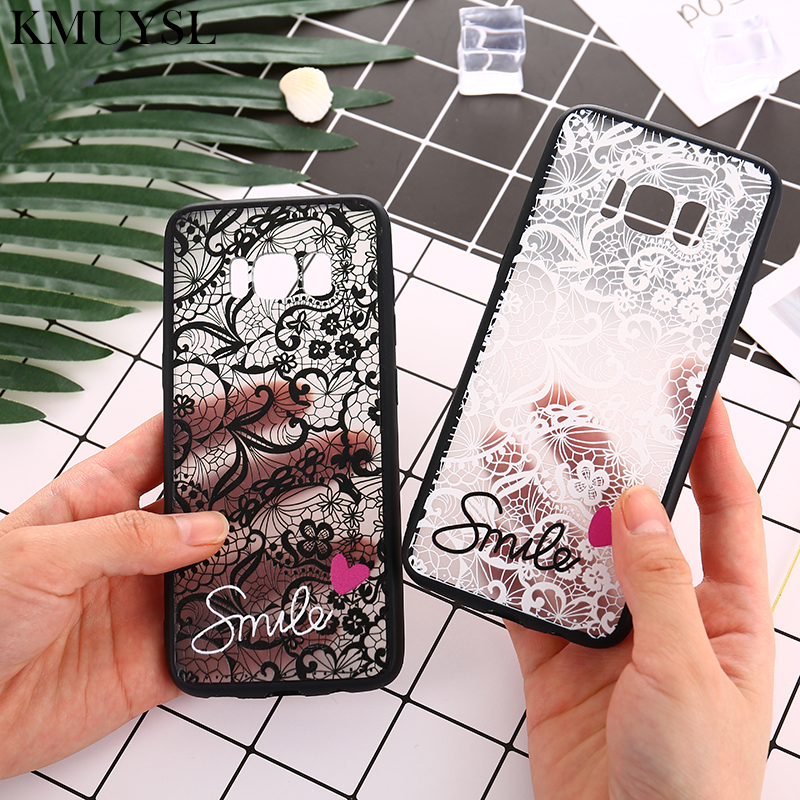 <font><b>Sexy</b></font> Lace Flower <font><b>Cases</b></font> for Samsung Galaxy J3 J5 J7 Prime A5 A3 A7 2017 2016 J8 A8 A6 2018 <font><b>s8</b></font> S9 Plus S7 S6 edge note 8 9 Cover image
