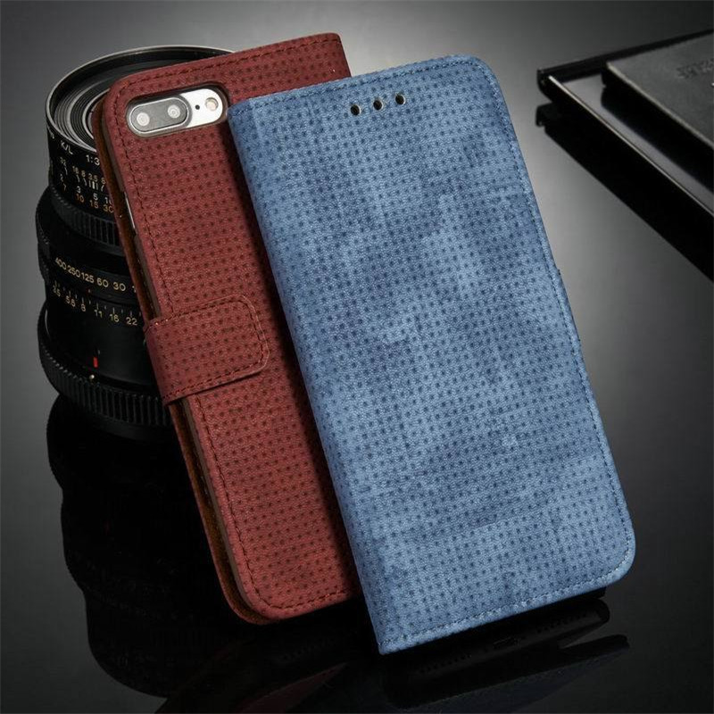 Luxury Retro Breathable Flip Wallet Case For iPhone X 10 7 8 Plus PU Leather Card Holder Stand Cover For iPhone X 6 6S 7 Plus 8