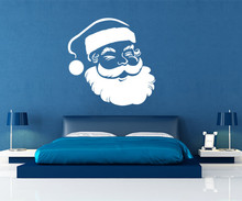 2017 Winter Merry Christmas Wall Decals Santa Claus Vinyl Sticker, Decal ,New Year