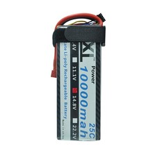 XXL RC battery Lipo 10000mah 14.8V 4S 25C Max 50C For DJI Spreading Wings S800 Helicopters RC Models Li-polymer Battery