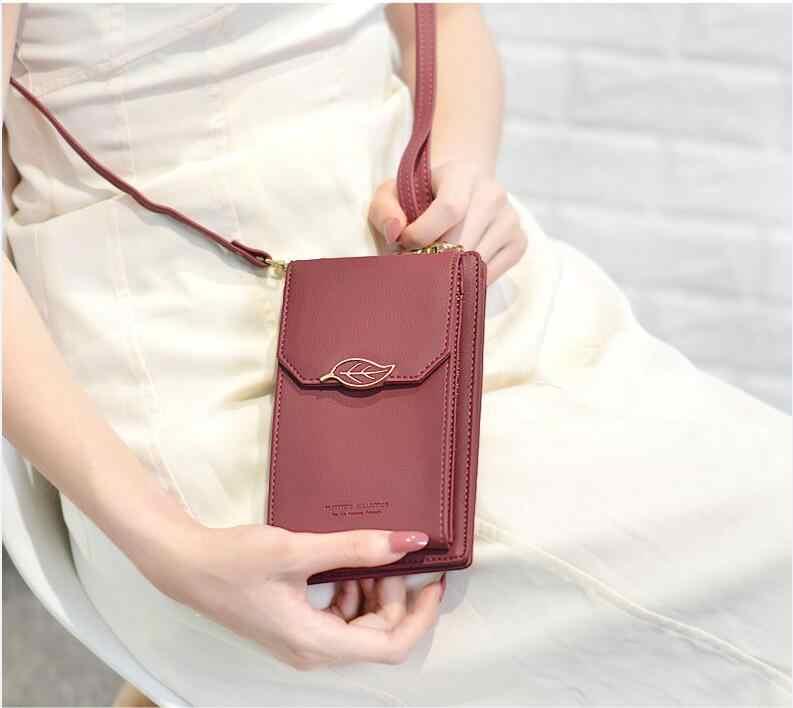 Новые женские винтажные сумки-мессенджеры кожаные листья расшитые блестками телефон кошелек монета деньги сумка на плечо повседневное использование Hasp кошелек для денег и карт