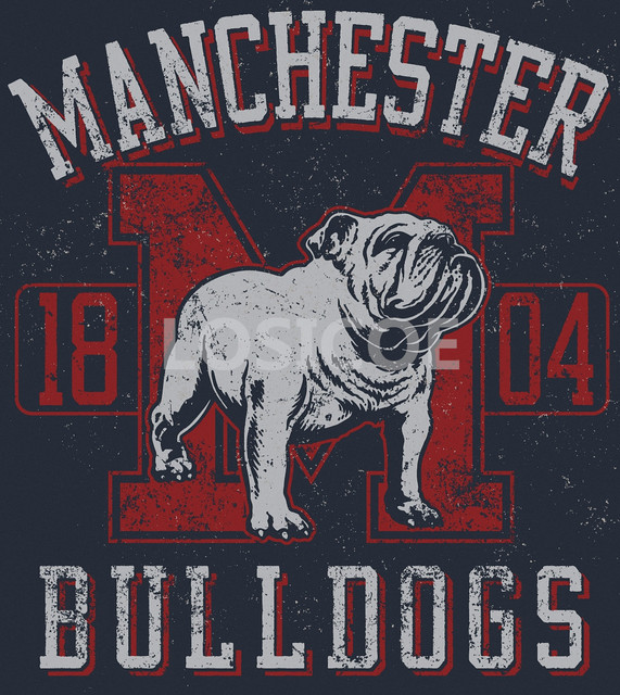 MANCHESTER 1804 BULL DOGS Vintage T shirt Tattoos Posters Kraft ...