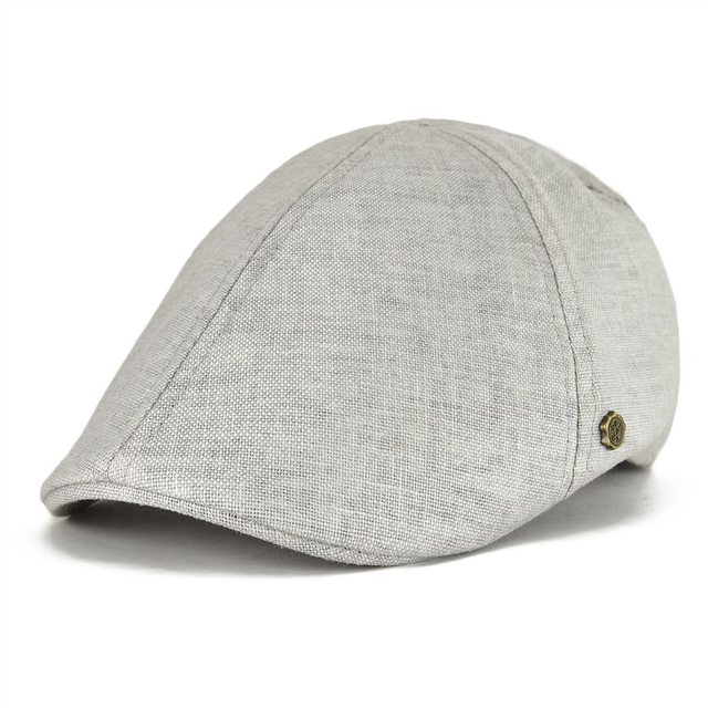 cd15b2f5007 VOBOOM Summer Cotton Flat Ivy Cap Linen Newsboy Caps Men Women Breathable  Cabbie Style Gatsby Duckbill Hat 104