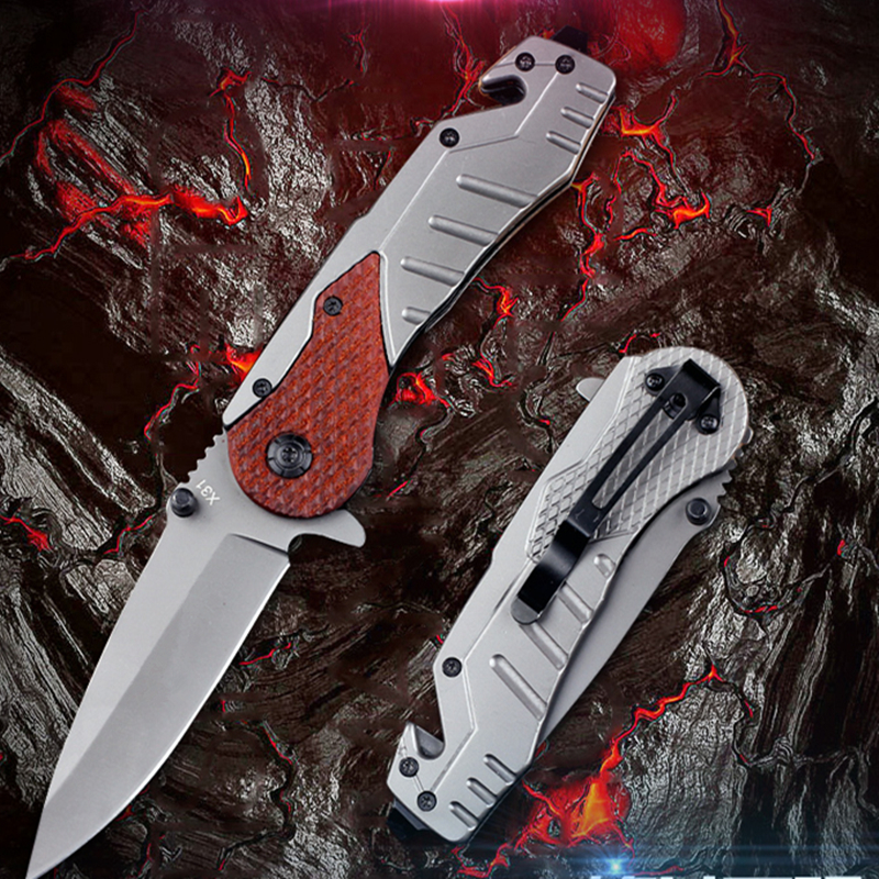 Folding Tactical Flipper Knife Hunting Survival Pocket Utility Camping Rescue Titanium Microtech Pocket Knives EDC Multi Tools