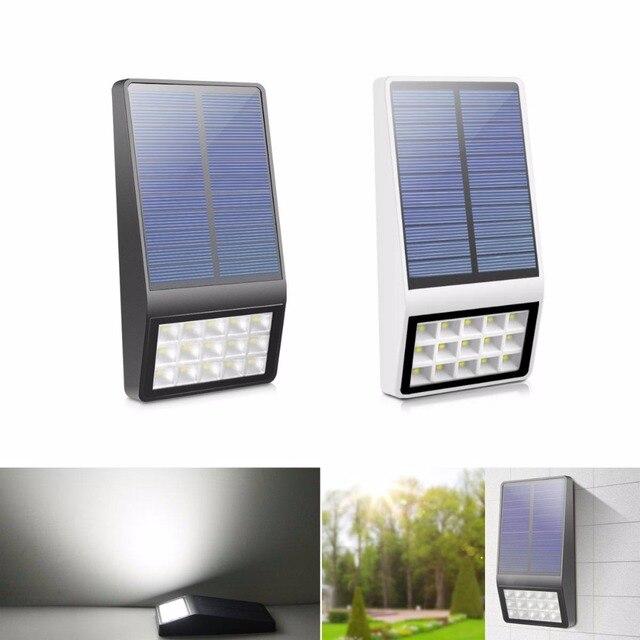 Solar Panel Wall >> Night Light Solar Panel Power Wall Light Radar Motion Sensor Solar