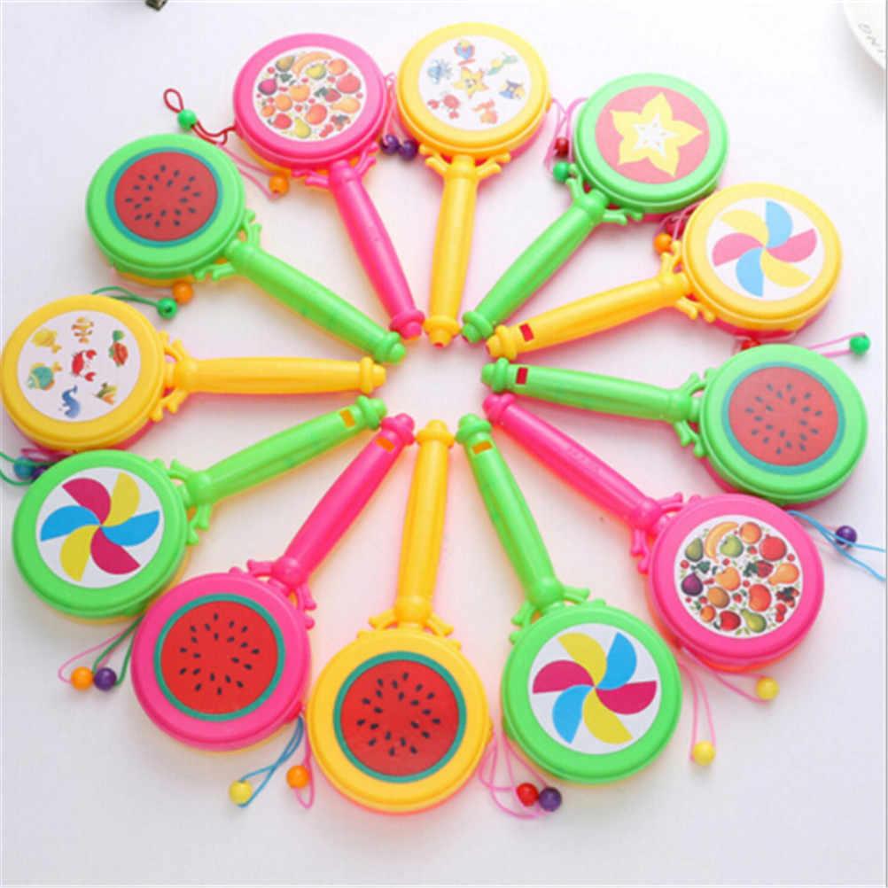 Śmieszne edukacyjne Jingle BellsToys urodziny prezenty kolor losowe grzechotki dla dzieci zabawki inteligencja chwytanie plastikowy dzwonek grzechotka