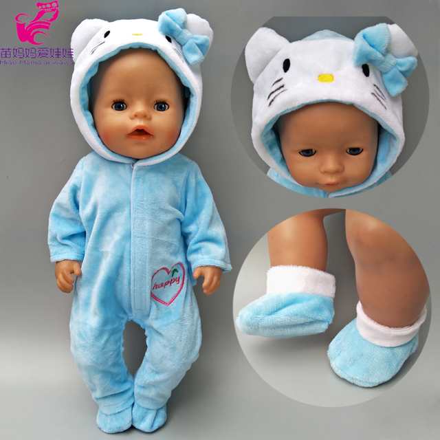 doll clothes for 43cm baby new born doll coat unicorn hoodie 17 inch 18 inch baby doll dress Christmas toys clothes