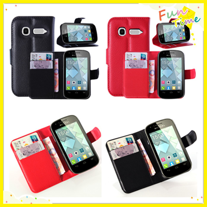 Alcatel One Touch POP C1 OT 4015 4015D Litchi Pattern Wallet Magnetic Flip Stand leather case Protective Cover - Shen Zhen Kingma Electronic Co., Ltd store