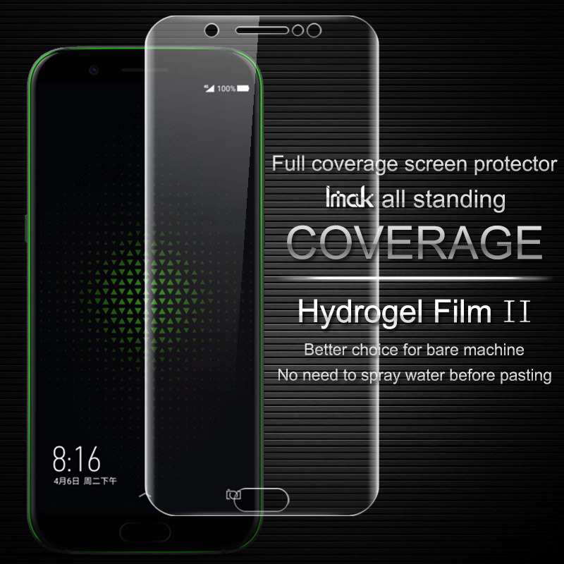 Imak Anti Glare Hydrogel Film 2th Gen for BlackShark Games Mobile Phone 3D Full Cover Screen Protector No Wipping