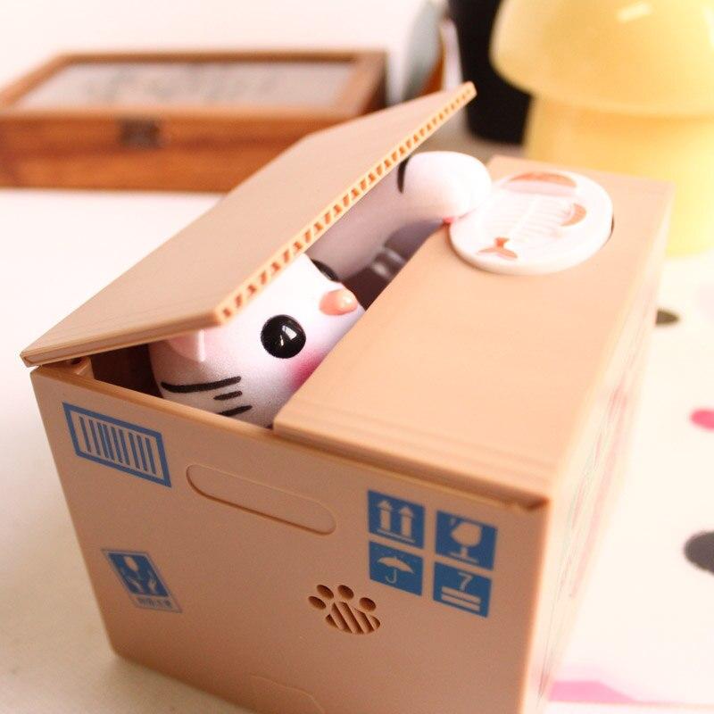 Kitty Cat Spargris Saving Box Söt Panda Automatiskt Stål Mynt - Heminredning - Foto 4