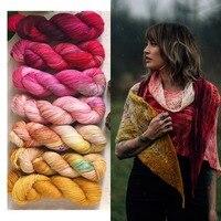 Beautiful 100g 400M/pcs Hot Sale 90% Merino Wool+10% Nylon Yarn for Knitting Hand knit yarn Thin Yarns for Shawl Sweater